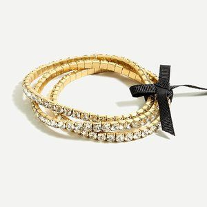 NWT J.Crew Stackable Crystal Stretch Bracelet Set
